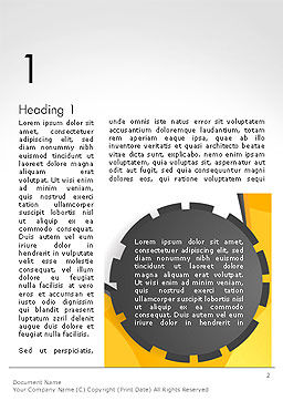 Cogwheel Concept Word Template First Inner Page