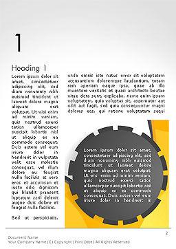 Cogwheel Concept Word Template, First Inner Page, 14259, Business — PoweredTemplate.com