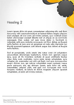 Cogwheel Concept Word Template, Second Inner Page, 14259, Business — PoweredTemplate.com