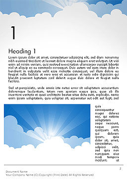 Blue Sky Word Template First Inner Page