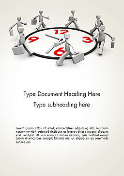 Working Time Word Template Cover Page