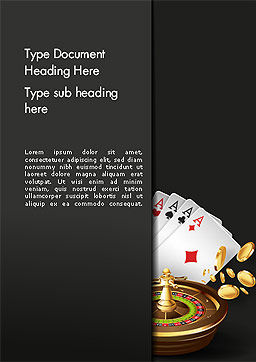 Gambling Word Template Cover Page