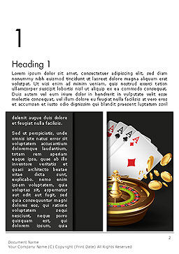 Gambling Word Template First Inner Page