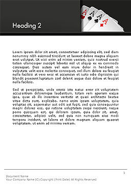 Gambling Word Template Second Inner Page