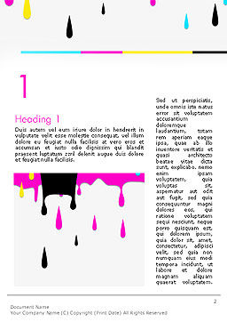 CMYK Ink Color Paint Word Template, First Inner Page, 14282, Careers/Industry — PoweredTemplate.com