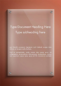 Nameboard Abstract Word Template Cover Page