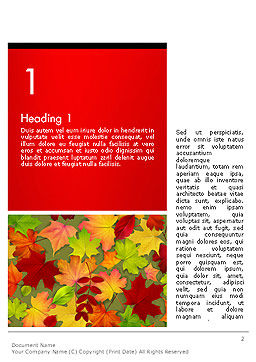 Red and Yellow Autumn Leaves Word Templae, First Inner Page, 14287, Holiday/Special Occasion — PoweredTemplate.com