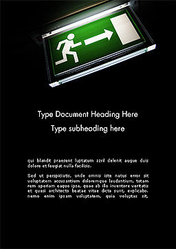 Emergency Lighting Word Template, Cover Page, 14289, Careers/Industry — PoweredTemplate.com