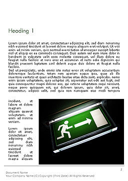 Emergency Lighting Word Template, First Inner Page, 14289, Careers/Industry — PoweredTemplate.com