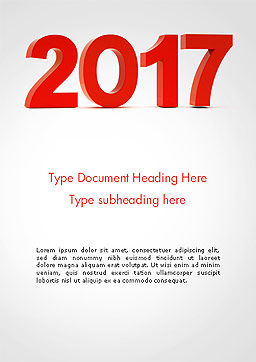 2017 Numbers Word Template, Cover Page, 14290, Holiday/Special Occasion — PoweredTemplate.com