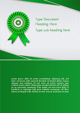 Certificate of Achievement Word Template Cover Page