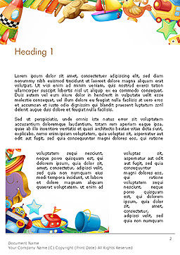 Toys Frame Word Template First Inner Page