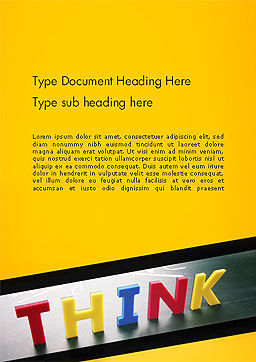 Word Think Word Template Cover Page