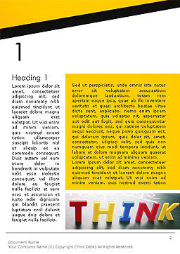 Word Think Word Template First Inner Page