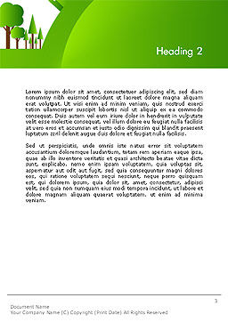Green City Concept Word Template, Second Inner Page, 14299, Nature & Environment — PoweredTemplate.com