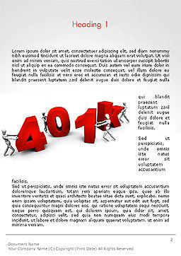 401k Word Template, First Inner Page, 14303, Financial/Accounting — PoweredTemplate.com