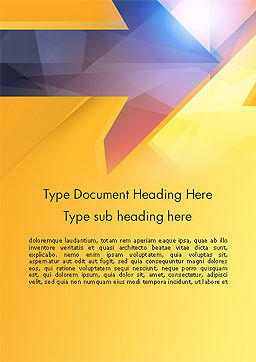 Two Arrows Pointing at Each Other Abstract Word Template Cover Page