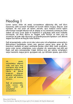 Two Arrows Pointing at Each Other Abstract Word Template, First Inner Page, 14304, Business Concepts — PoweredTemplate.com