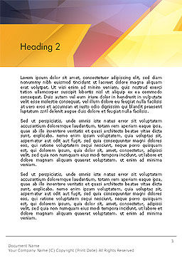 Two Arrows Pointing at Each Other Abstract Word Template, Second Inner Page, 14304, Business Concepts — PoweredTemplate.com