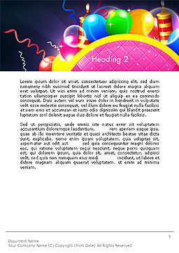 Happy Birthday Card Word Template, Second Inner Page, 14305, Holiday/Special Occasion — PoweredTemplate.com