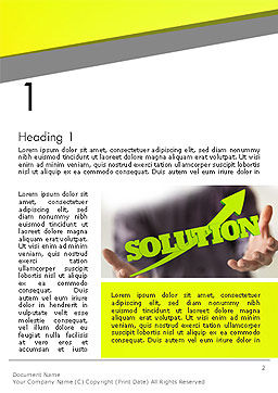 Arrow Solution Word Template, First Inner Page, 14308, Business Concepts — PoweredTemplate.com