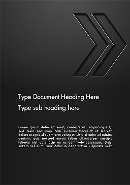 Right Direction Concept Abstract Word Template, Cover Page, 14309, Business Concepts — PoweredTemplate.com