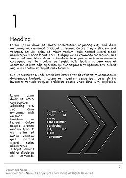Right Direction Concept Abstract Word Template, First Inner Page, 14309, Business Concepts — PoweredTemplate.com