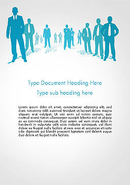 Silhouettes of Men in Suits and Ties Word Template Cover Page