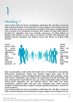 Silhouettes of Men in Suits and Ties Word Template, First Inner Page, 14310, People — PoweredTemplate.com