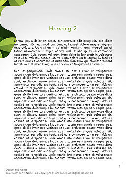 Green Gear Shape with Flower Word Template, Second Inner Page, 14312, Nature & Environment — PoweredTemplate.com