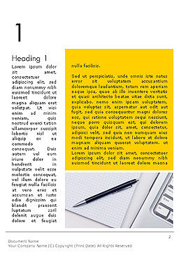 Keyboard and Notepad with Pen Word Template, First Inner Page, 14314, Business Concepts — PoweredTemplate.com
