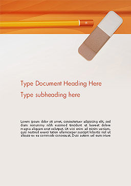 Eraser and Pencil Word Template Cover Page