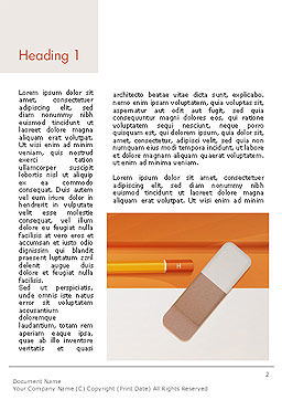 Eraser and Pencil Word Template First Inner Page