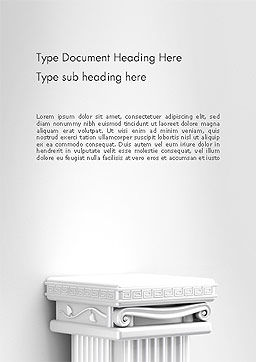 Antique Podium for Exhibit Word Template Cover Page