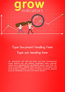 SEO Analysis Concept Word Template Cover Page
