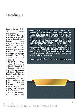 Business Style Abstract Word Template, First Inner Page, 14323, Business — PoweredTemplate.com