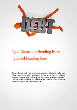 Mannequin and Debt Word Template Cover Page