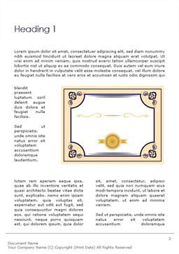 Gold Certificate Frame Word Template First Inner Page