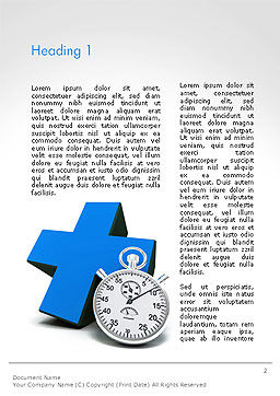 Blue Cross and Chronometer Word Template, First Inner Page, 14327, Medical — PoweredTemplate.com
