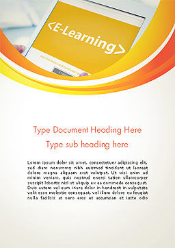 E-Learning Student Study Online Word Template Cover Page
