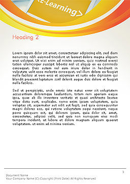 E-Learning Student Study Online Word Template Second Inner Page