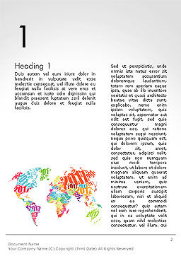 2017 World Map Word Template, First Inner Page, 14329, Holiday/Special Occasion — PoweredTemplate.com