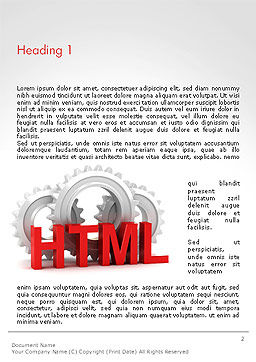 HTML and Gears Word Template, First Inner Page, 14333, 3D — PoweredTemplate.com