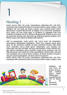 Children on the Train Illustration Word Template First Inner Page