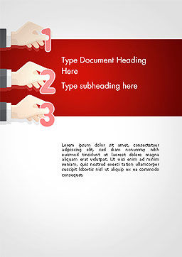 Human Hands with Numbers Word Template, Cover Page, 14339, Business Concepts — PoweredTemplate.com