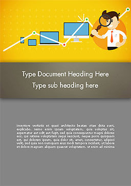 Reporting Analyst Word Template, Cover Page, 14350, Financial/Accounting — PoweredTemplate.com