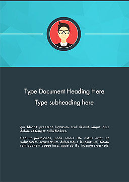 Business Card Word Template Cover Page