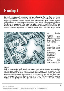 Money Puzzle Word Template, First Inner Page, 14354, Financial/Accounting — PoweredTemplate.com