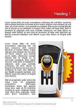 Car and Gearstick Word Template First Inner Page