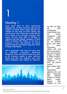 Silhouette of The City Word Template, First Inner Page, 14361, Construction — PoweredTemplate.com